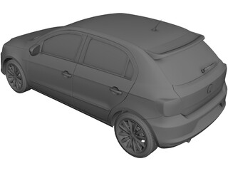 Volkswagen Gol GT (2015) 3D Model 3D Preview