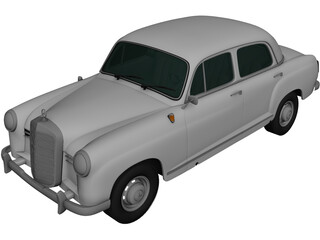 Mercedes-Benz Ponton 180 W120 (1953) 3D Model