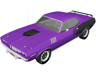 Plymouth Barracuda (1971) 3D Model