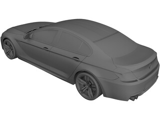 BMW M6 Gran Coupe (2014) 3D Model