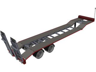 Low Loader CAD 3D Model
