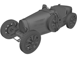 Bugatti Type 37B (1937) 3D Model