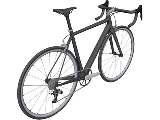Classic Road Bike 3D Model