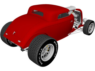 Ford Hotrod Coupe (1934) 3D Model