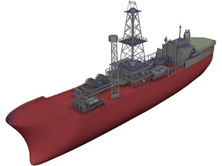 FPSO Noble Seillean 3D Model