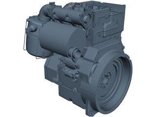 Deutz D2011 L02 Engine CAD 3D Model