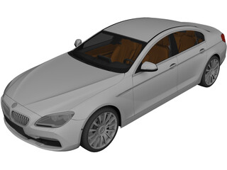 BMW 6-Series Gran Coupe (2015) 3D Model