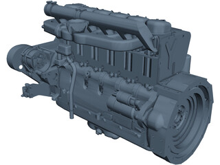 Deutz F6L914 Diesel Engine CAD 3D Model