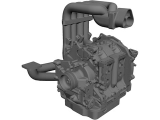 Mazda 13B Engine 3D Model 3D Preview