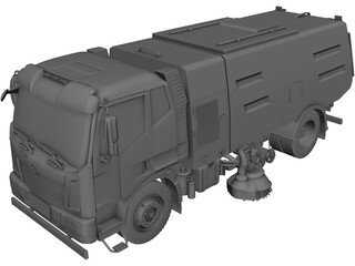 JieFang Road Sweeper 3D Model