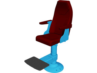 Ship Captain Chair 3D Model