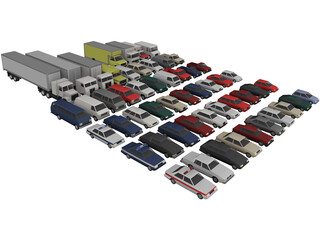 Low-Poly Vehicles Collection 3D Model