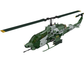 Bell AH-1W Super Cobra 3D Model