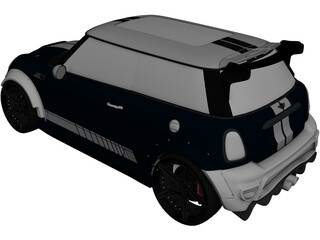 Mini Cooper R56 Widebody 3D Model