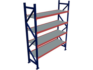 Industrial Shelf 3D Model