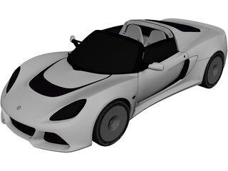 Lotus Exige S Roadster (2013) 3D Model 3D Preview