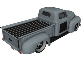 Ford F1 Pickup Truck Hot Rod (1950) 3D Model
