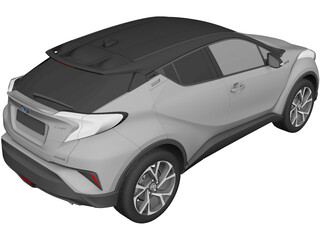 Toyota C-HR (2017) 3D Model