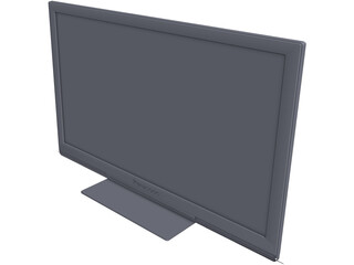 Panasonic TX-P46ST30B Plasma TV CAD 3D Model