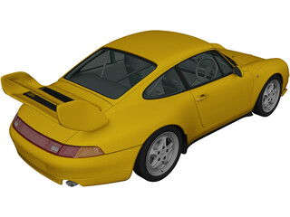 Porsche 911 Carrera Clubsport (1995) 3D Model