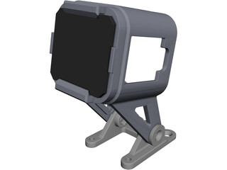 GoPro Session 5 Mount CAD 3D Model