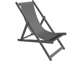 Deck Chair Beach 3D Model