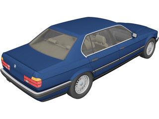 BMW 7-series E32 3D Model 3D Preview