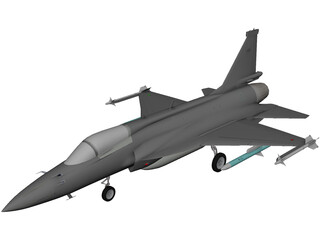 PAC JF-17 Thunder 3D Model 3D Preview