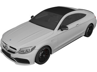 Mercedes-Benz C63 AMG Coupe (2017) 3D Model