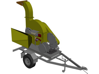 Wood Chipper CAD 3D Model