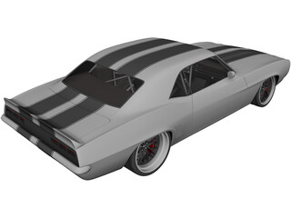 Chevrolet Camaro SS RS (1969) 3D Model