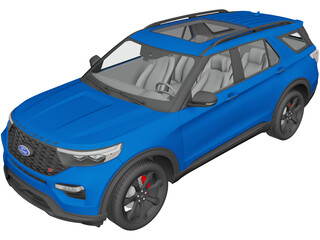 Ford Explorer ST (2020) 3D Model