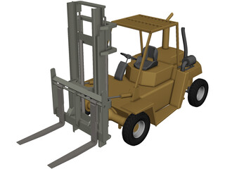 Fork Lift CAD 3D Model