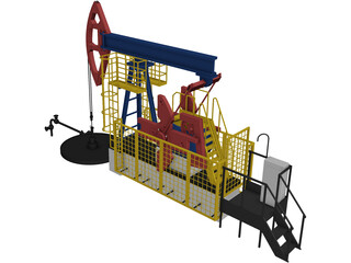 Arctic Oil Station 3D Model