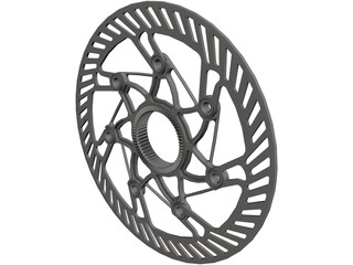 Center Lock Brake Rotor CAD 3D Model