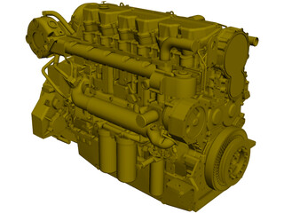 Caterpillar C18 Engine CAD 3D Model