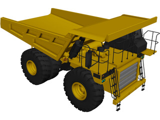 Caterpillar 777D 3D Model 3D Preview