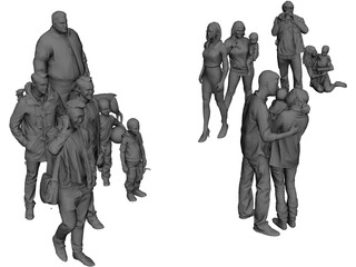 Group of Poeple 3D Model