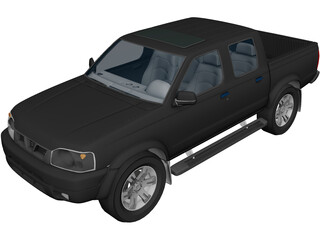 Nissan Frontier Crew Cab 3D Model 3D Preview