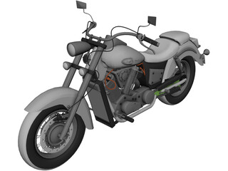 Honda VT400 Shadow 3D Model