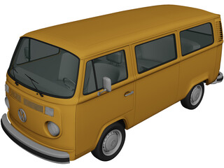 Volkswagen Transporter T2 (1972) 3D Model