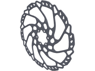 Shimano RT66 203mm Brake Rotor CAD 3D Model