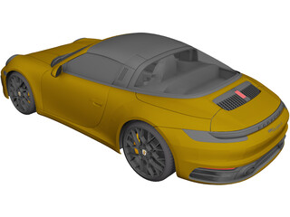 Porsche 911 [992] Targa (2019) 3D Model 3D Preview