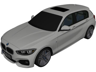 BMW 1-Series 5-door (2016) 3D Model