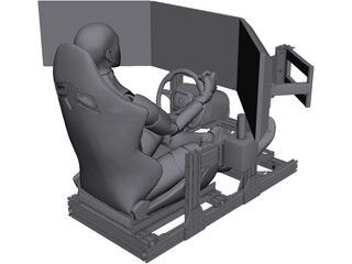 Sim Racing Rig CAD 3D Model