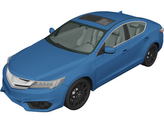 Acura ILX (2016) 3D Model 3D Preview