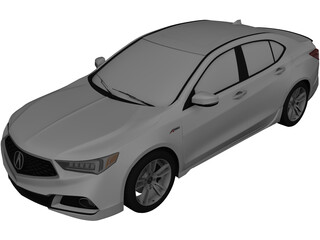 Acura TLX A-Spec (2017) 3D Model