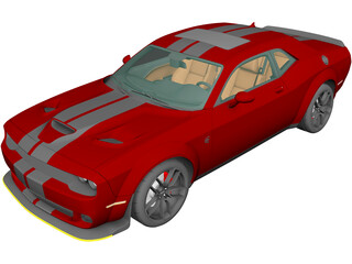 Dodge Challenger SRT Hellcat WideBody (2018) 3D Model