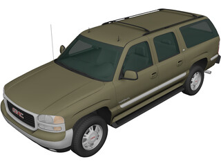 GMC Yukon XL (2000) 3D Model
