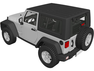 Jeep Wrangler Rubicon (2013) 3D Model 3D Preview